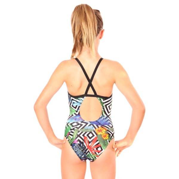 Nereid Badeanzug Mädchen Rücken