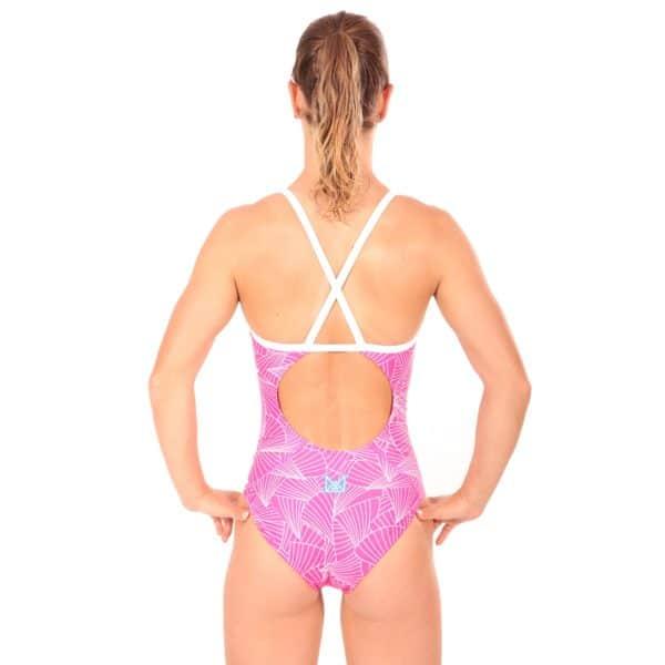 Nereid Badeanzug Curves Pink Back