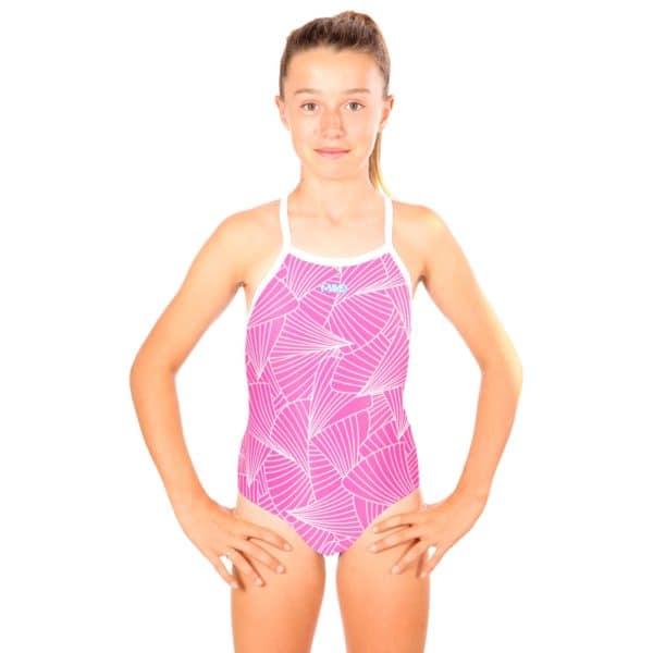 Badeanzug Mädchen Curves Pink